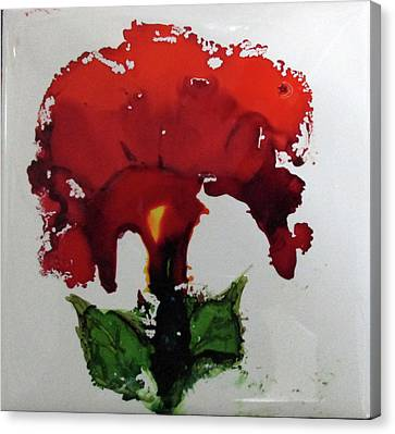 Canvas Print - Red Flower by Liberty Dickinson
