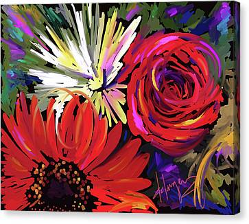 Red Flowers Canvas Print by DC Langer