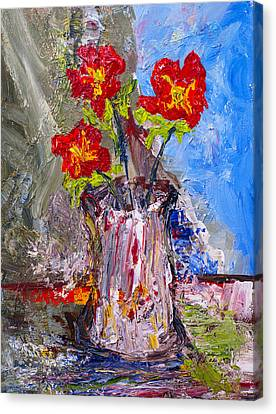 Red Flowers Canvas Print by Donald  Erickson