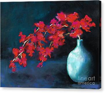 Red Flowers Canvas Print by Frances Marino