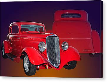Red Ford Canvas Print by Jim  Hatch