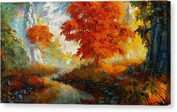 Red Forest - Pa Canvas Print by Leonardo Digenio