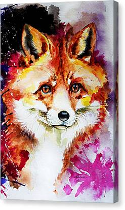 Red Fox Canvas Print by Isabel Salvador