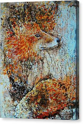 Red Fox Canvas Print by Jean Cormier