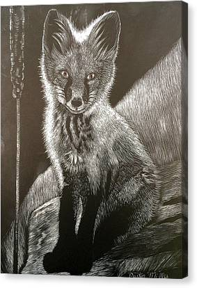 Red Fox Kit Canvas Print by Dustin Miller