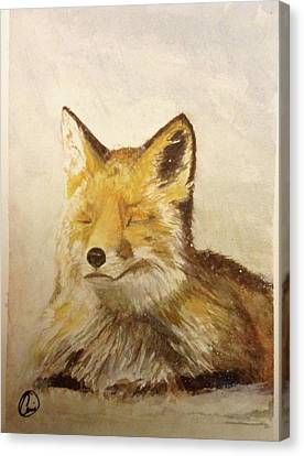 Red Fox Rest Canvas Print
