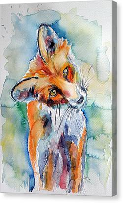 Red Fox Watching Canvas Print