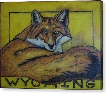 Red Fox Wyoming Canvas Print by Lauri Kraft