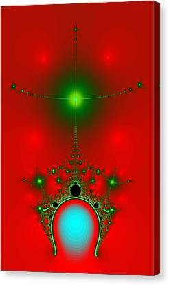 Red Fractal Canvas Print by Charmaine Zoe