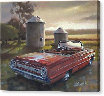 Red Galaxie Canvas Print by Todd Baxter