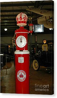 Red Gas Pump Canvas Print by Kathleen Struckle