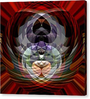 Red Geo Low Canvas Print by Beverly Kimble Davis