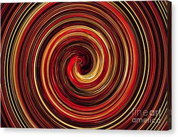 Have A Closer Look. Red-golden Spiral Art Canvas Print