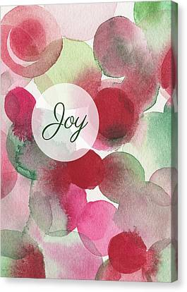 Red Green Fuchsia Chic Holiday Card Canvas Print by Beverly Brown