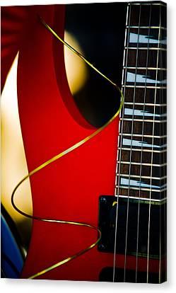 Red Guitar Canvas Print by Hakon Soreide