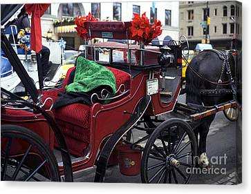 Red Handsome Cab Canvas Print