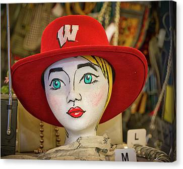 Red Hat On Mannequin Head Canvas Print by Steven Ralser