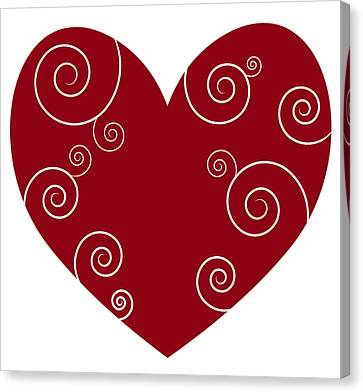 Red Heart Canvas Print by Frank Tschakert