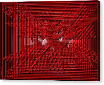 Red Heartwires Canvas Print