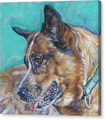 Heeler Canvas Print - Red Heeler Australian Cattle Dog by Lee Ann Shepard
