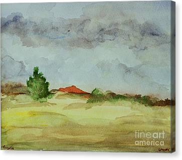 Red Hill Landscape Canvas Print