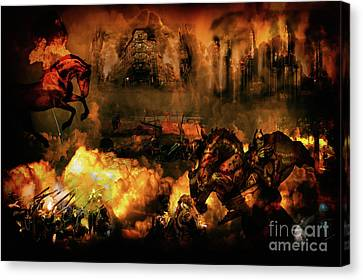 Red Horsemen Of The Apocalypse Canvas Print