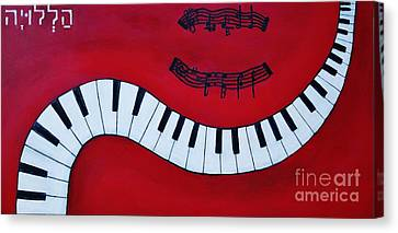 Red Hot And Ready To Rock Canvas Print