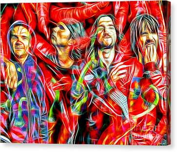 Red Hot Chili Peppers In Color II  Canvas Print