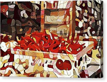 Interior Still Life Canvas Print - Red Hot Chili Peppers by Susan Maxwell Schmidt