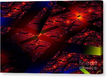 Clayton Canvas Print - Red Hot Confetti by Clayton Bruster