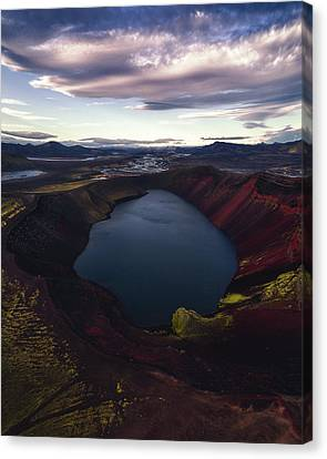 Craters Canvas Print - Red Hot Crater by Tor-Ivar Naess