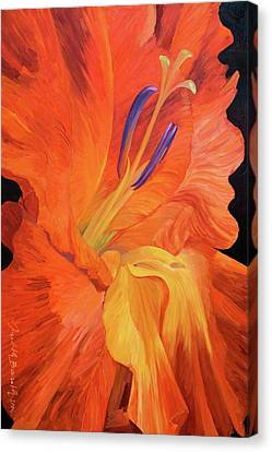 Red-hot Flower Canvas Print