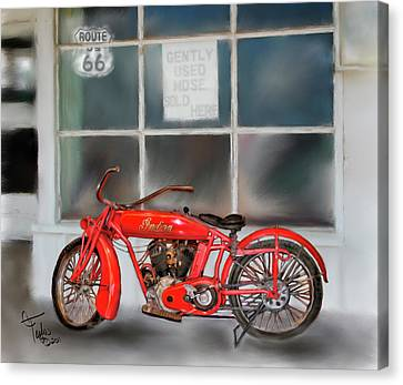 Red Hot Tail Gunner Canvas Print by Colleen Taylor