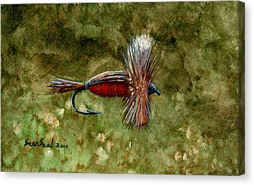 Red Humpy Canvas Print by Sean Seal
