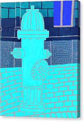 Red Hydrant Canvas Print