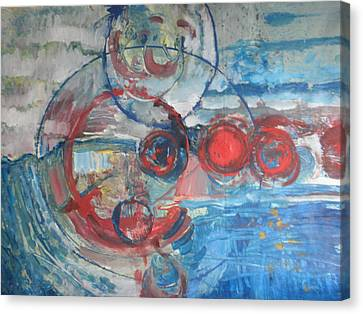 Canvas Print featuring the painting Red Infinity by John Fish
