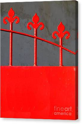 Red Iron Gate Canvas Print by Yali Shi