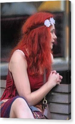 Western North Carolina Canvas Print - Red Is The Color Of My True Loves Hair by John Haldane