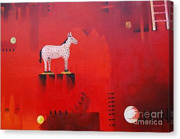 Red Canvas Print by Jose Luis Montes