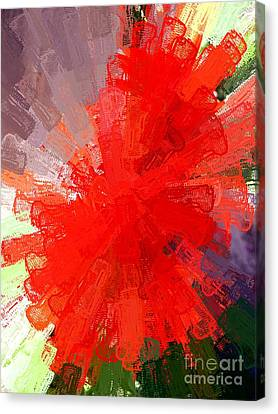 Red Lace Canvas Print by Carol Grimes