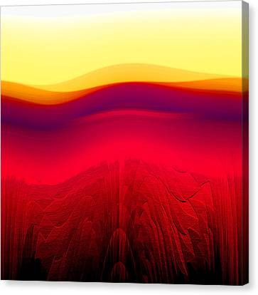 Red Landscape Canvas Print by Ramon Labusch