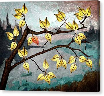 Canvas Print - Red Leaf by Ken Taylor