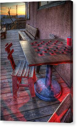Red Light Checkers Canvas Print by Wayne Stadler