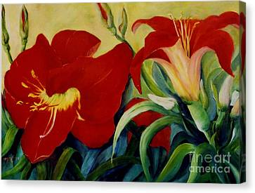 Red Lily Canvas Print by Marta Styk