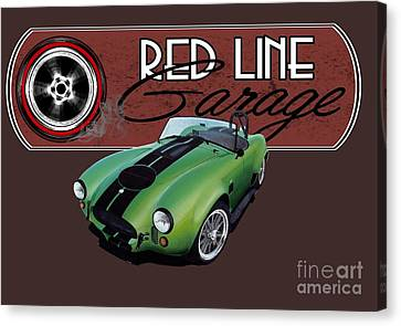 Red Line Garage Canvas Print by Paul Kuras