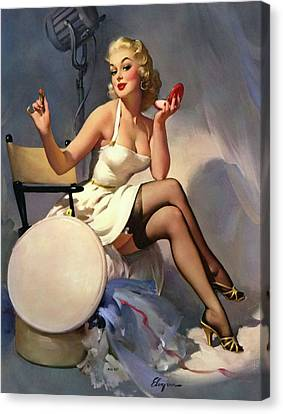 Canvas Print - Red Lipstick Apply by Long Shot