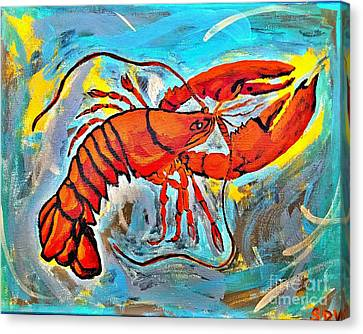 Masters Winners Canvas Print - Red Lobster Abstract  by Scott D Van Osdol