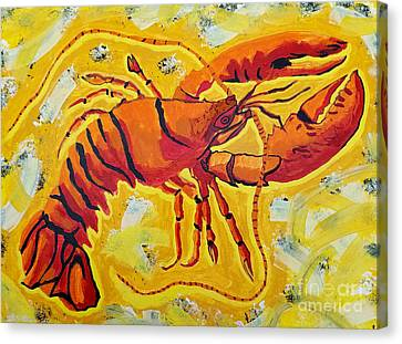 Masters Winners Canvas Print - Red Lobster Yellow Abstract by Scott D Van Osdol