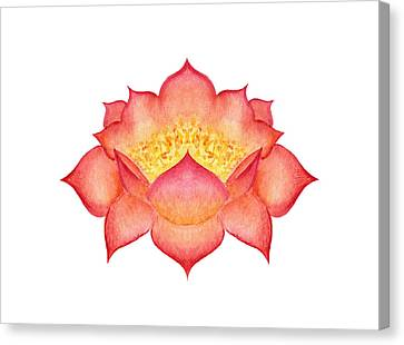 Canvas Print featuring the painting Red Lotus by Elizabeth Lock