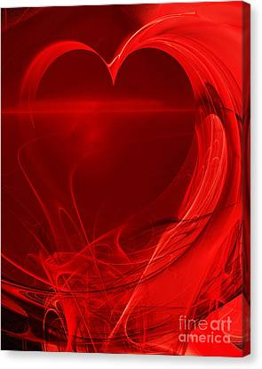 Red Love . A120423.279 Canvas Print by Wingsdomain Art and Photography